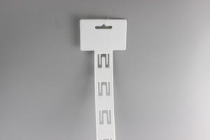 645 * 34mm 12 ganchos Supermercado estante accesorio merienda Productos de tejido Soporte de PP colgando bolsa clip tira de suspensión