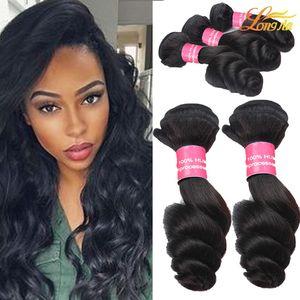 حار بيع البرازيلي الماليزي الشعر نسج فضفاض موجة 100٪ غير المجهزة عذراء الشعر حزم البرازيلي الماليزية عذراء الشعر البشري ملحقات