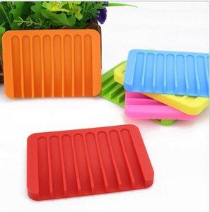 Umweltfreundlich Süßigkeit-Silikon-Seifen-Kasten-nette Karikatur-Seifenschalen Kann Soap Tropfenhalter 11.5 * 8 * 1cm Zubehör für das Badezimmer