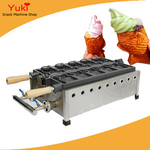 5pcs gas coreano forma de pescado Taiyaki Maker Fish Waffle panadero helado comercial forma de pescado Waffle Baker