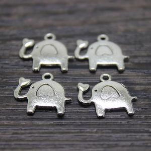70pcs / 16x15mm Тибетский посеребренные слон подвески подвески для ожерелье браслет ювелирных изделий