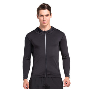 Autumn and winter outdoor sports men long-sleeved cardigan fast dry tight compression sports training clothess