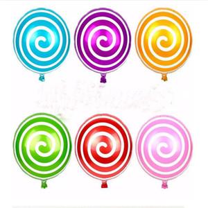 Umweltfreundlich 18 Zoll Lollipops-förmige Cartoon Ballons Süßigkeit-Farben-Aluminiumfolienballon Kinder spielen Geburtstags-Party-Hochzeits-Dekoration