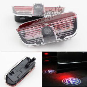 Araba Kapı ışık hoşgeldiniz Hayalet Gölge Volkswagen VW Passat Için B6 B7 CC Golf Koşum Ile 6 7 Jetta MK5 MK6 Tiguan Scirocco Lazer Projektör
