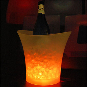 5L ماء البلاستيك LED لون الجليد دلو تغيير البارات الملاهي الليلية LED تضيء الشمبانيا البيرة دلو البارات ليلة الحزب