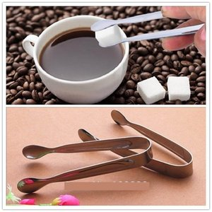 Mini Ice Clamp Stainless Steel Coffee Sugar Tongs Tool Bar Barbecue BBQ Clip Kitchen Accessories Portable fee shipping