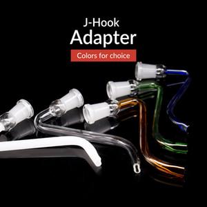 YENİ J-Hook ashcatcher ücretsiz kargo bong cam boru cam Adaptör kadın 14mm 18mm j kanca açılır