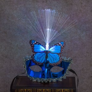 Halloween Masquerade Mask LED luminous fiber new children toy wholesale Christmas items