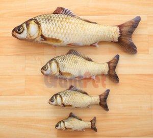 Vivid catnip fishpillow Menthe farcie vive chat oreiller herbe carpe poisson animal de compagnie simulation peluche jouet carpe jouet poisson gpcarp 60 cm