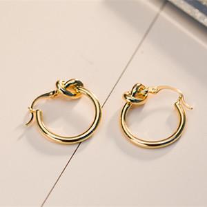 Novità del disegno semplice di modo Europa ed avanguardia calde placcato oro di personalità gli orecchini dei cerchi per le ragazze donne BRC-048