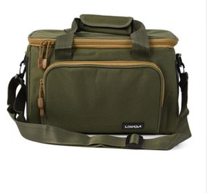 37*25*25cm Men Fishing Bag Canvas Multifunctional Outdoor Waist Shoulder Bags Fishing Reel Lure Storage Bag Fishing Tackle Pesca