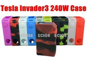 Tesla Invader3 240W E cig 전자 담배 실리콘 케이스 스킨 커버 백 포켓 파우치 액세서리 박스 들어