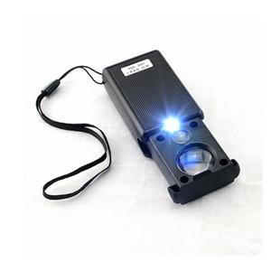 30X 60X Pull Type LED Light Joyero que identifica la lupa óptica de aumento