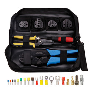 5 em 1 Terminais Tab RF Connector friso Alicates Crimper Tool Set Kit
