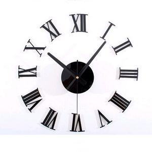 All'ingrosso-2015 3d diy acrilico stile caffè vendita nuovo orologio da parete set orologio orologi al quarzo ago geometrico ago singolo trasporto libero
