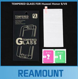 الجملة التجزئة حزمة الزجاج المقسى لهواوي الشرف 8 تشديد شاشة واقية prot for Huawei Honor V8 Screen Protector