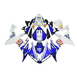 3 kostenlose geschenke Komplette Verkleidungen Für Yamaha YZF 1000 YZF R12004 2005 2006 Einspritzung Kunststoff Motorrad Vollverkleidung Kit Weiß Blau b12