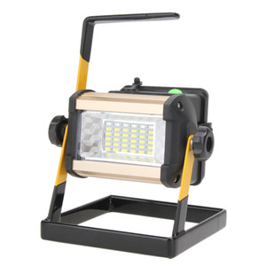 Wholesale- IP65 50W 2400LM 36LED Rechargable Floodlight White Outdoor Landscape Lamp LED Street Square Projectors Spotlight