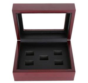 Coffret en bois Bague de championnat avec vitrine Coffrets en bois Bague 2 3 4 5 6 Trous pour choisir des anneaux Boxe