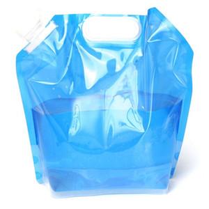 Wasser-Taschen 5L mit hängender Schnalle und tragfähigem Griff beweglicher zusammenklappbarer sicherer Wasser-Beutel für Camping im Freien, das EA14 wandert