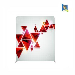 Support de bannière d'affichage de tissu de tension portative droite large de 6ft, toile de fond de mariage, salon commercial, cabine d'exposition
