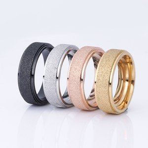 Newest Rings Fashion pearl yarn matte Tungsten Carbide ring Wedding Brand for men and women Jewelry concise and Individuals