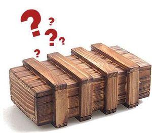 Caja de regalo de madera IQ bloqueo mágico secreto -Brain Teaser Puzzle regalos de Navidad caja regalos idea DHL Fedex envío gratis