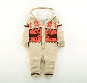 2017 hiver nouveau Noël élan bébé plus épais vêtements communs bébé Jersey vêtements d'escalade enfant pull en gros 1 pc