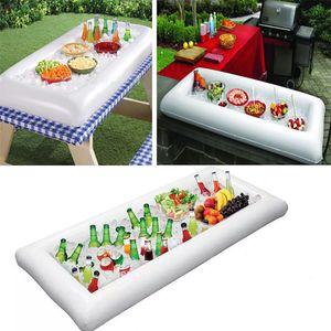Новейшие надувные салатные подносы сервировка буфет бар кулер салат-бар еда фруктовый напиток ведра льда партия Кулеры для пикника лотки для хранения WX-C10