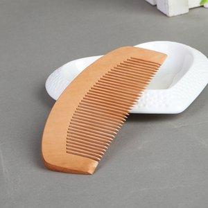 مشط الخشب الطبيعي الخوخ وثيق الأسنان مكافحة ساكنة رئيس تدليك الشعر العناية خشبي ، 12x5 سنتيمتر ، 100 قطعة / الوحدة ، شحن مجاني