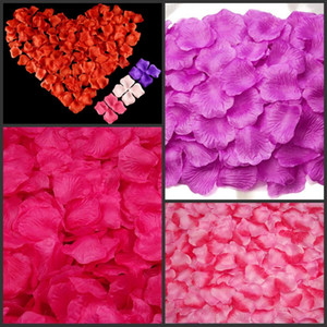 Simulação de Pano de seda Pétalas De Rosa Artificial Exibição Rose Flor Pétalas Deixa Decorações De Casamento Festa Festival Decoração de Mesa