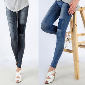 Atacado-Sexy Womens Denim Jeans Skinny Leggings Jeggings Trecho Lápis Calças Calças