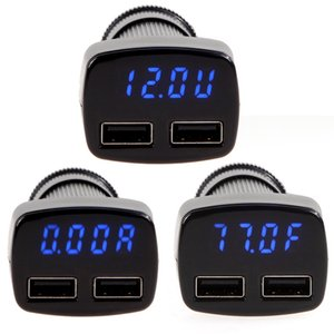 Mudder 4 في 1 ولاعة السجائر الرقمية LED الجهد مراقب مع 3.1A المزدوج منافذ USB شاحن سيارة للهواتف المحمولة والأجهزة اللوحية