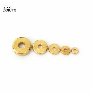 BoYuTe 100Pcs 3MM 4MM 5MM 6MM 7MM 8MM 10MM 12MM Круглые металлические латуни Diy Loose Spacer Beads для изготовления ювелирных изделий
