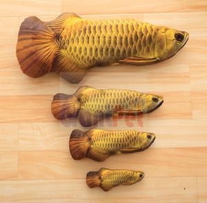 Vivid catnip fishpillow Menthe farcie vive chat oreiller poisson animal de compagnie simulation peluche rouge / or / argent arowana 20 30 40 cm