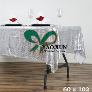 Good Looking Rectangular Sequin Table Cloth \ Cheap Wedding Tablecloth Free Shipping
