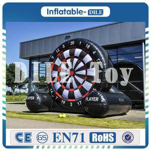 3 m yüksek dev şişme ayak dart panoları / futbol futbol şişme dart oyunları, şişme golf dart panoları oyunu