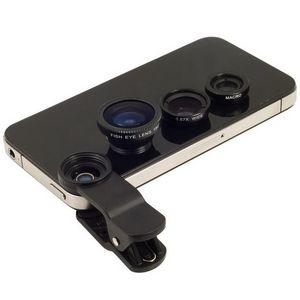 Lente da câmera do telefone celular 3 em 1 Grande Angular Macro Fisheye Lens Câmera Universal Lentes de Telefonia Móvel Lentes Olho De Peixe Para o iPhone 6 7 Smartphone