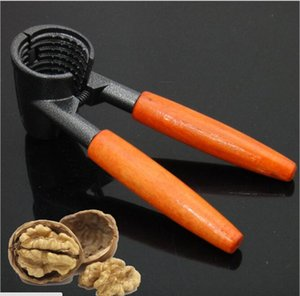 nuez de galleta de nuez Abridor galleta de galleta de cracker descascarado alicates accesorios de cocina galleta de aleación con mango de madera