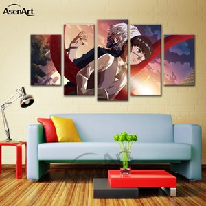 Wall Art Cartoon The Tokyo Ghoul Painting Напечатанный плакат для гостиной Home Decorative Framed Ready to Hang Dropshipping