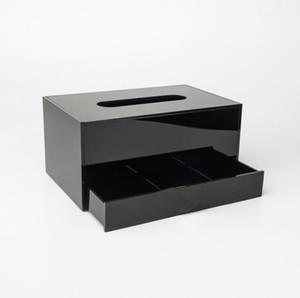 NUOVO! Contenitore acrilico classico del contenitore di immagazzinaggio dei monili della scatola del tessuto dei contenitori di trucco del contenitore di trucco acrilico classico per il regalo di nozze