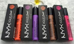 0.13fl.oz / 4mL 12 colori NYX Lip Lipstick Liquid Matte Lip Gloss Trucco Rossetto a lunga durata Lip Gloss 12 pz / lotto HKPOST libero