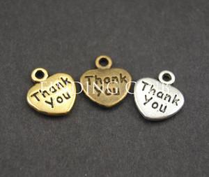 Wholesale-50pcs 3 colores Gracias Amor joyas que hacen el corazón encanta resultados de la joyería DIY del metal del collar de la pulsera A564 / 753/754