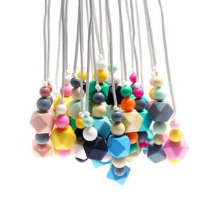 Date 70 CM 100% sans BPA de qualité alimentaire Silicone bébé mâcher des perles collier de dentition en gros soins infirmiers bijoux de dentition pour maman maman à porter