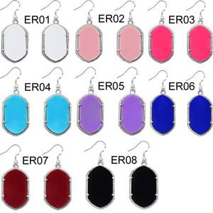 Luxus Geometrische Kronleuchter Ohrringe 925 sterling silber Große Große Acryl Baumeln Ohrringe Für frauen Designer Modeschmuck
