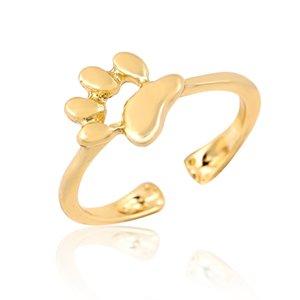 Новая мода открытый кошка собака Лапа печати кольца для женщин Девушки регулируемый размер собака Лапа женский партия подарки животных кольцо EFR038
