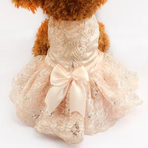 Armipet Sequins Dentelle Robe De Chien Brodée Robe De Mariée Princesse Pour Chiens 6073009 Pet Tutu Jupe Fournitures XS S M L XL