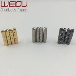 Weiou 4pcs 1 set de 3.8x22mm Punta de los cordones Aglet termina Bullet Metal Lock Clips Reemplazo DIY Zapato de encaje Plata, Oro, GunBlack ventas al por mayor