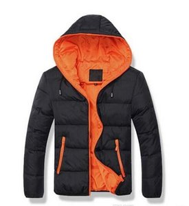 2016 New Men's Cotton Blend Coat Hooded Padded Jacket Casual Thick Outwear For Men Winter Plus Size Clothing For Men