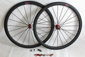 Ruote bici da strada in carbonio profondità 38mm copertoncino / ruote bici tubolari basalto superficie freno 700c larghezza cerchio 25mm mozzi R13 powerway